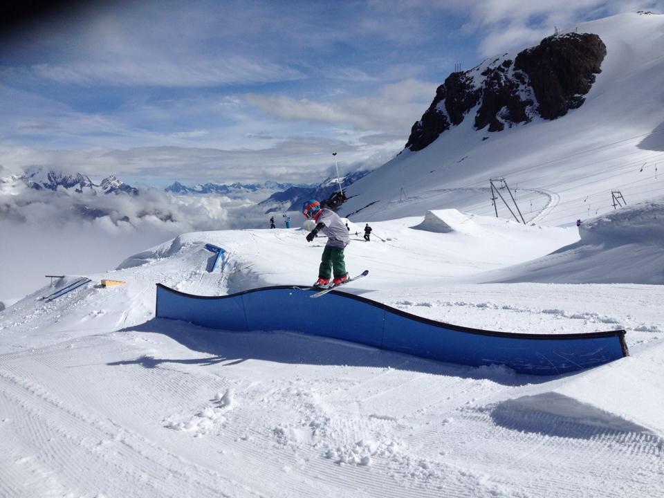 bradley fry rail zermatt glacier
