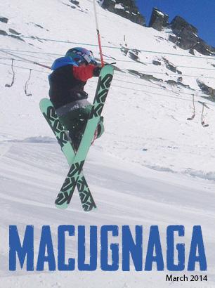 Bradley Fry Skier at Macugnaga Italy