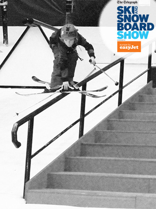 bradley fry london ski show rail demo